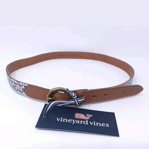 Vineyard vines canvas club belt Americana patchwor